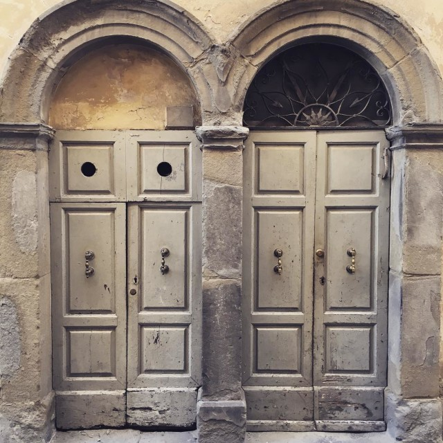 Twins doors in montesansavino tuscany