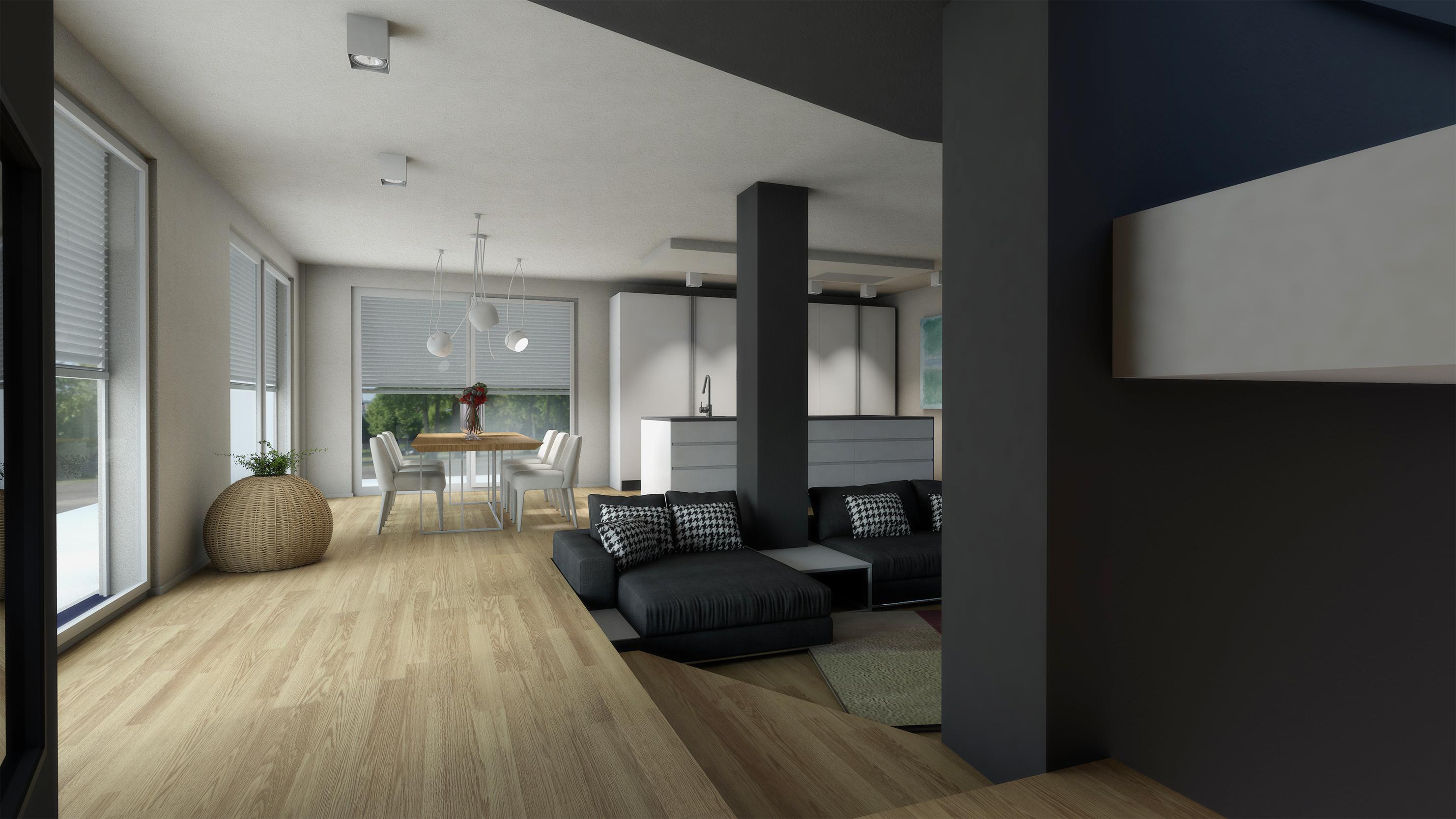 Interni villa duplex bc progettazione integrata di for Progetti architettura interni